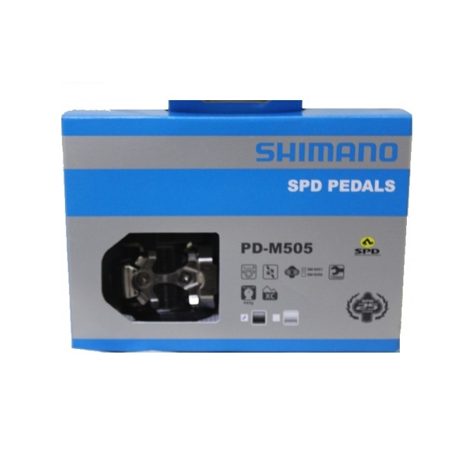 13096703c85 SHIMANO PD-M505 SPD MTB PEDALS - Solomons Cycles